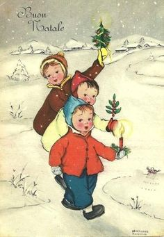Vintage Christmas card (1955) by leah