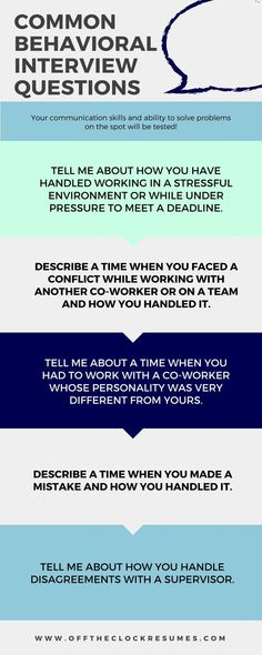 Best Answers To Common Behavioral Interview Questions: Infographic | Off  The Clock Resumes