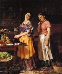 The Young Wife: First Stew - Lilly Martin Spencer - The Athenaeum