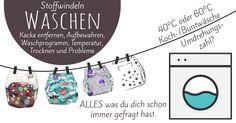 Stoffwindeln waschen - Temperatur Umdrehungszahl