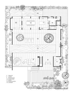 The Courtyard House,First Floor Plan