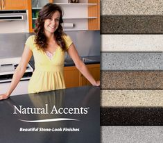 Spice-up the look of your kitchen with one of our exclusive Natural Accents® stone-look finishes.for a fraction of the cost of replacement! Contact your local Miracle Method to schedule a free in-home estimate.