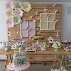 47 Ideas Flowers Birthday Party Butterfly And Butterfly Birthday Party, Butterfly Baby Shower, 1st Birthday Girls, Flower Birthday, Butterfly Party Decorations, Birthday Party Decorations, Wedding Table Flowers, Baby Shower Parties, First Birthdays
