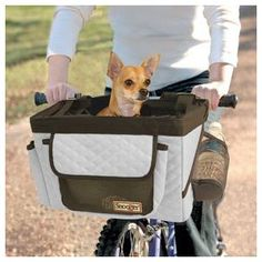 Dog Bike Basket - Pet Bicycle Seat- Gray.  My neighbor has this.  I want it!!!