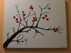 Simple Canvas Painting Ideas | ... to Create a Cherry Blossom Painting | Adventures in Darcie's Head