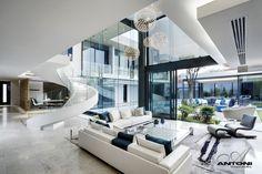 inside modern mansions living rooms