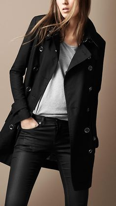 Burberry Zip Detail Trench Coat - currently unattainable along with the leather pants.