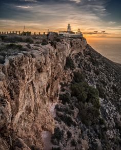 Lighthouse of Mesa Roldan in Carboneras (Almería) by Domingo Leiva / Andalusia Spain, Andalucia, Costa, Santa Ana, Spain Holidays, Granada, Spain Travel, Island Life, Real Madrid