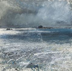 Scilly, Bryher, Norrard Rocks. Gale force, high water September 2008 mixed media 57 x 58cm £6,000 Kurt Jackson