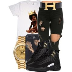Childish✨ by maiyaxbabyyy on Polyvore featuring polyvore, fashion, style, Hermès, Big Baby, Rolex and clothing