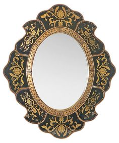 Scalloped Wall Mirror, Classical Black | Style Fusion | One Kings Lane (=)