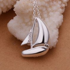 Sterling Silver Sailboat Necklace. Sterling Silver Sailboat Necklace