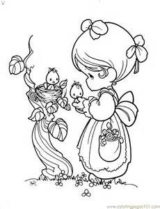 Precious Moments Easter Coloring Pages