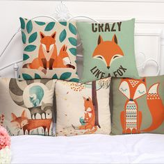 Cute Fox Printed Home Decor Cushion Covers  Price: 9.95 & FREE Shipping  #hashtag1