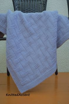 Easy Blanket PATTERN, written instructions with diagram.Ravelry: Baby pattern by Žana Daniūnienė Crochet Baby Blanket Beginner, Free Baby Blanket Patterns, Easy Knitting Patterns, Crochet Blanket Patterns, Baby Patterns, Baby Knitting, Knitted Baby Blankets, Etsy, English