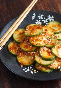 Spicy Korean Cucumber Salad (Oi Muchim) by SeasonWithSpice.com