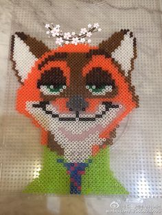 Nick - Zootopia perler beads