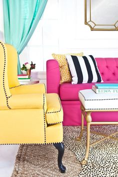 13 Kate Spade New York-Inspired Decor Ideas for Your Living Room – Brit + Co Living Room Furniture, Home Furniture, Living Room Decor, Living Rooms, Furniture Online, Vintage Furniture, Furniture Shopping, Furniture Stores, Discount Furniture
