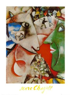 I and the Village, c.1911 by Marc Chagall. Art print from Art.com.