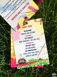 Festival Wedding Lanyards for music-mad couples Wedding Stationery, Wedding Invitations, We Are Festival, Festival Wedding, Wedding Programs, Big Day, Invites, How To Memorize Things, Lunch Box