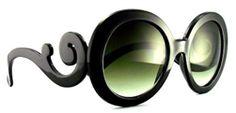 $15.00 Baroque Big Round Designer Sunglasses - 316 Black #baroquesunglasses #scrollsunglasses #designersunglasses #rounddesignersunglasses