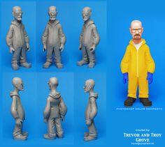 Tem um cara aí, chamado Trevor Grove, que tá com um projeto de fazer miniaturas de vários personagens do Breaking Bad. Recentemente ele postou uma prévia do trampo aqui, e disse que a ideia é criar bonecos de até 15cm de altura. Segundo Trevor, as esculturas de cera ainda estão em desenvolvimento e esse colorido (...)
