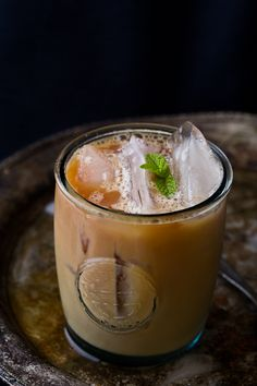 Iced Masala Chai Tea / by Indian Simmer (uses fresh ginger, any type of milk)