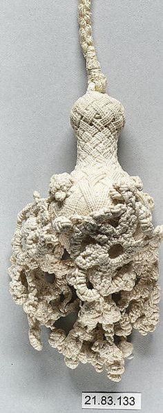 Tassle (Italy) ~ 17th century ~ Italian ~ Linen ~ Metropolitan Museum of Art