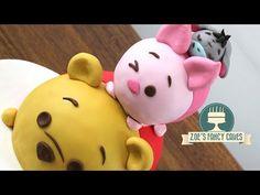 Disney Tsum Tsum cake: Winnie the Pooh, Piglet and Eeyore - YouTube