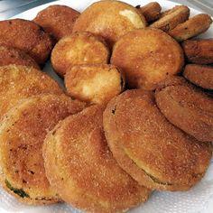 Como fazer berinjela empanada frita no óleo ou na fritadeira elétrica (AirFryer), muito fácil! Receita de berinjela empanada frita que é simples e crocante