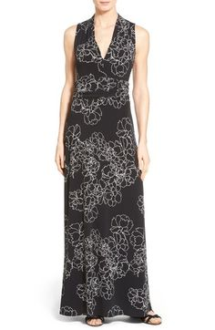 Vince Camuto Floral Print Jersey Maxi Dress (Regular & Petite) available at #Nordstrom