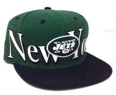NEW YORK JETS SNAPBACK HAT Green Black White Flat-Bill Men/Women/Teen Reebok NFL #Reebok #NewYorkJets