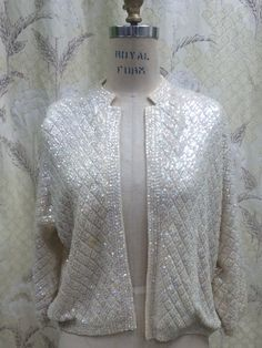 1950s Beaded Sweater