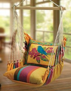 Bluebird Garden Swing Chair is part of Diy hammock - Swing baby swing Diy Hammock, Hammock Swing, Hammock Chair, Swinging Chair, Hammocks, Chair Swing, Swing Seat, Indoor Swing, Patio Swing