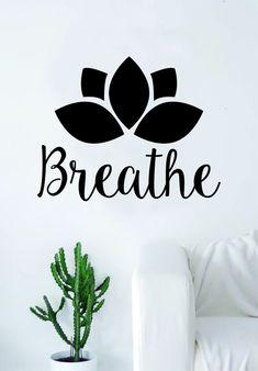Yoga room ideas zen space wall art 16 Ideas for 2019 Lotus Flower Quote, Flower Quotes, Vinyl Wall Decals, Wall Stickers, Vinyl Art, Buddha Zen, Buddha Peace, Namaste Yoga, Zen Yoga
