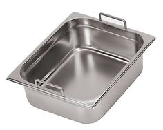 Paderno World Cuisine 12 34 inches by 6 14 inches Stainlesssteel Hotel Pan with Fixed Handles  14 depth 7 78 inches * Check out this great product from Amazon.com