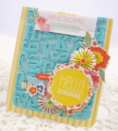 "Use leftover Thickers as background ""paper"" (Andrea Budjack for American Crafts blog)"
