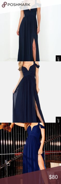 BARIANO OCEAN OF ELEGANCE NAVY BLUE MAXI DRESS Cute really cute. Just too big on me Lulu's Dresses Maxi