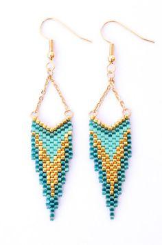 Création Artistic Bracelet - Boucles d'oreille CLEO Turquoise et Or