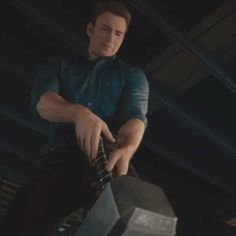 Hopefully Steve picks up Mjorlnir sometime in the movie. >>> IF THEY ARE THE STORYTELLERS I HOPE THEY ARE, THEY WILL HAVE STEVE PICK UP MJOLNIR IN AGE OF ULTRON.