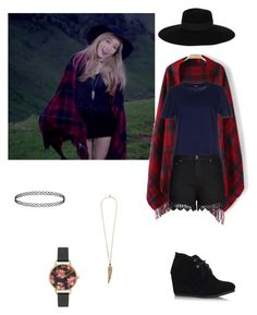 """""""Taeyeon """"I"""" Inspired Outfit"""" by alwaysbella15 on Polyvore featuring TOMS, Maison Michel, Olivia Burton, Roberto Cavalli, Jil Sander Navy and City Chic"""