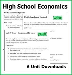 Teaching Economics Lessons Student High School Curriculum Clroom Social Stus