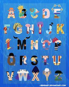 One Piece Alphabet by *SergiART on deviantART