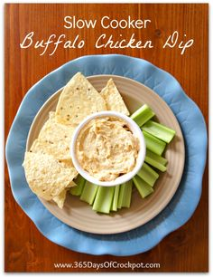 365 Days of Slow Cooking: Recipe for Slow Cooker Buffalo Chicken Dip