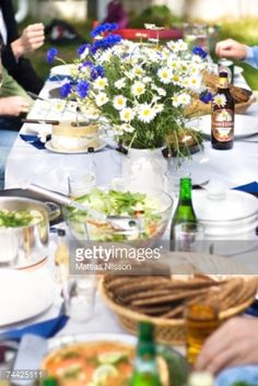 View Stock Photo of An Outdoor Lunch At Midsummer Sweden. Find premium, high-resolution photos at Getty Images.