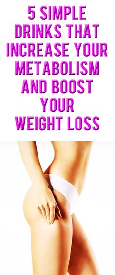 5 simple drinks that increase your metabolism and boost your weight loss. Weight Loss Drinks, Fast Weight Loss, Healthy Weight Loss, Weight Loss Tips, How To Lose Weight Fast, Losing Weight, Health And Fitness Tips, Fitness Diet, Fitness Plan