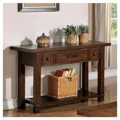 Riverside Furniture Windridge Console Table at Pottery Barn- entryway table. Little bit chunkier than the last table Console Table, Living Room Console, Table, Rustic Furniture, Dining Table Decor, Riverside Furniture, Furniture, Sofa Table Decor, Wood Console