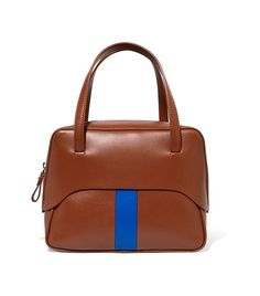Duffle striped leather bag Marni