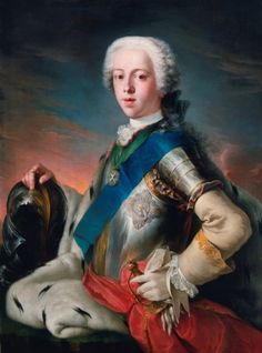 """""""Prince Charles Edward Stuart"""" by Louis Gabriel Blanchet (1739) in the Royal Collection, UK - From the curators' comments: """"Prince Charles Edward Stuart (1720-88), the Young Pretender, embodied the hopes of the Stuart cause in exile. His portrait was reproduced in numerous forms that could be disseminated widely, both as propaganda and as gifts for supporters....He was 19 years old at the time of the sitting and is portrayed as a confident warrior-prince."""""""
