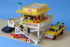 Lego Beach, Lego Table Ikea, Lego Craft, Lego For Kids, Lego Modular, Lego Construction, Lego Room, Lego Worlds, Cool Lego Creations